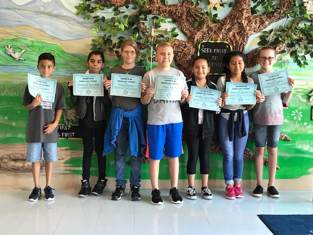 J.L. Bowler Elementary Student Leaders  for the month of September, 2018