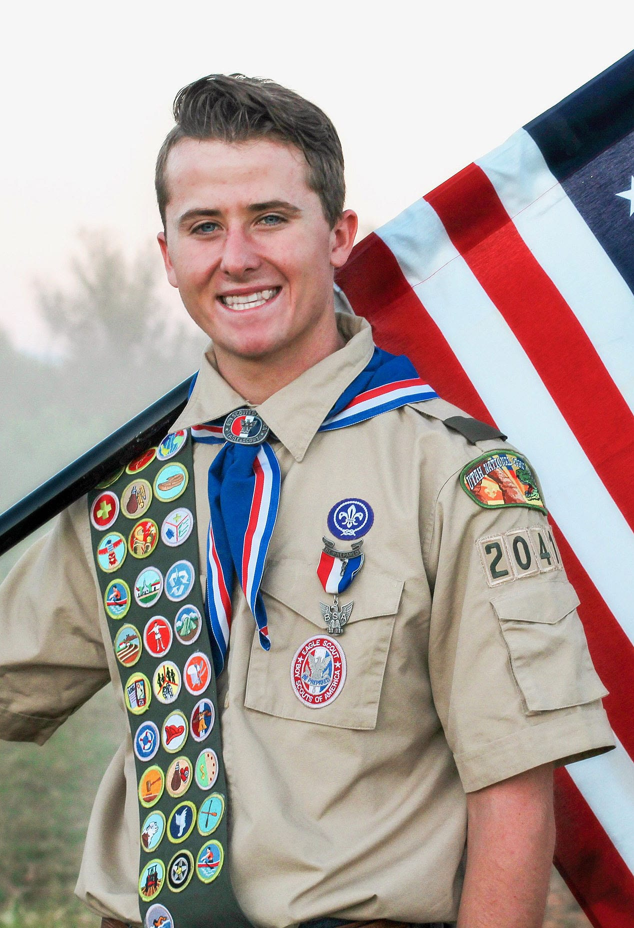 Trey Fred Houston received his Eagle Scout