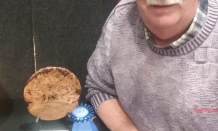 Mesquite Woodturner Takes Blue Ribbon