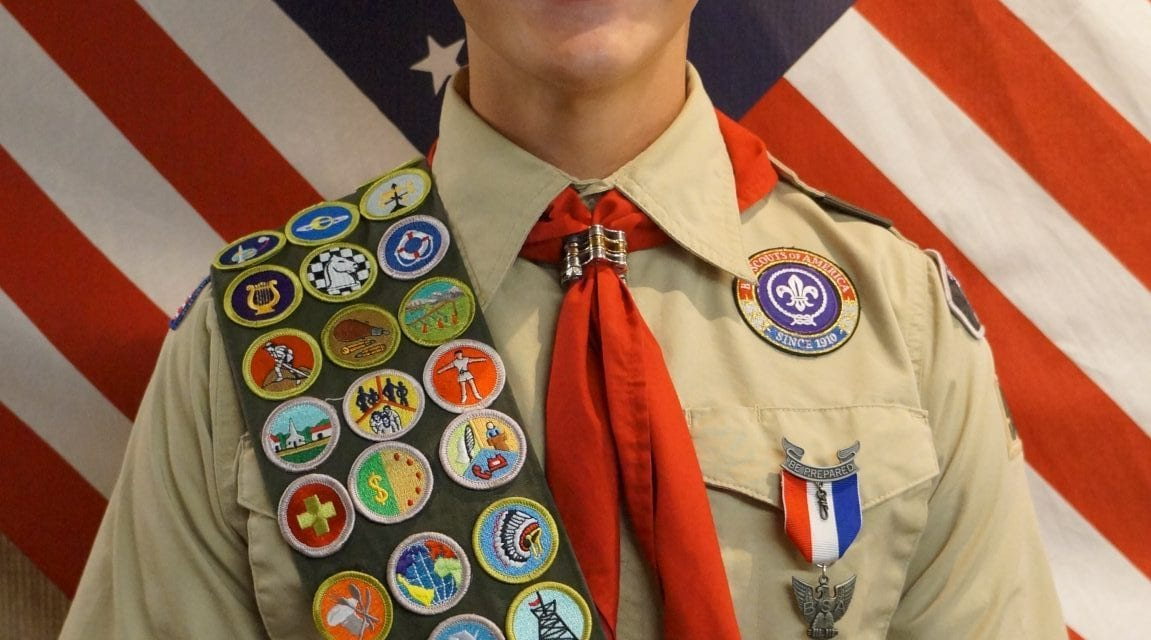 Earl Ned Hill, III receives Eagle Scout Award