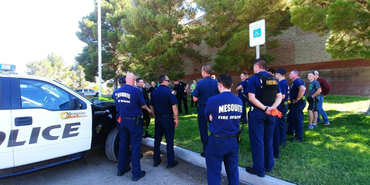 Mesquite Fire, Police train for active shooter