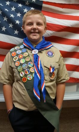Connor Chase Wilson receives Eagle Scout Award