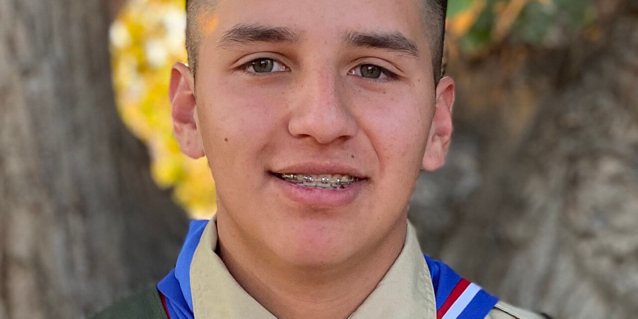 Abe Alejos received is Eagle Scout Award