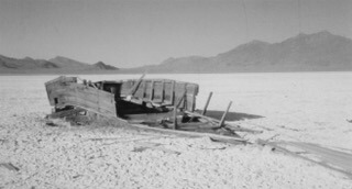 The last of many boats on Winnemucca Lake