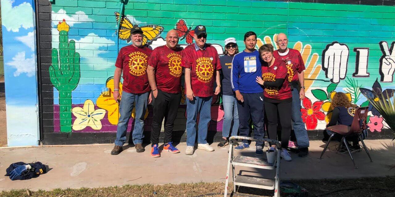 Mesquite Rotary crosses borders