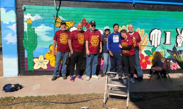 Mesquite Rotary crosses borders