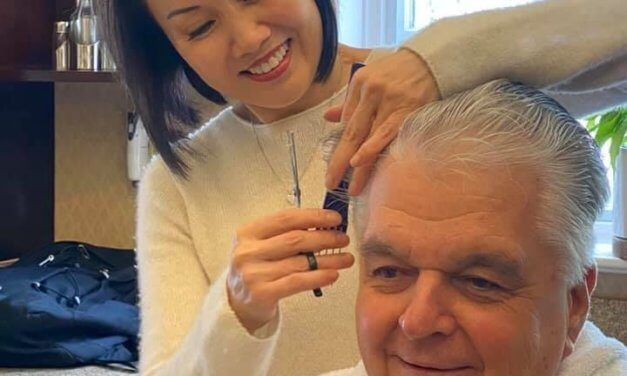 Nevada governor gets a haircut … from his wife