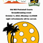 Old Mill Pickleball Courts Groundbreaking Event Oct 4th